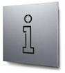 Piktogramm Information konturgeschnitten in Aluminium