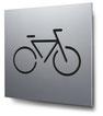Piktogramm Fahrradstellplatz konturgeschnitten in Aluminium