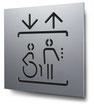 Piktogramm Aufzug konturgeschnitten in Aluminium