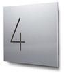 Nummern beginnend mit 4... konturgeschnitten, in Aluminium