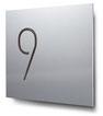 Nummern beginnend mit 9... konturgeschnitten, in Aluminium