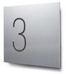 Nummern beginnend mit 3... konturgeschnitten, in Aluminium