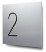 Nummern beginnend mit 2... konturgeschnitten, in Aluminium