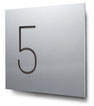 Nummern beginnend mit 5... konturgeschnitten, in Aluminium