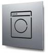 Piktogramm Laundry konturgeschnitten in Aluminium