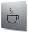 Piktogramm Café konturgeschnitten in Aluminium