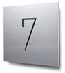 Schild Nummer 7 konturgeschnitten, in Aluminium