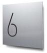 Nummern beginnend mit 6... konturgeschnitten, in Aluminium