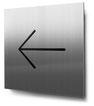 Piktogramm Pfeil nach links konturgeschnitten in Edelstahl