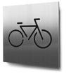 Piktogramm Fahrradstellplatz konturgeschnitten in Edelstahl