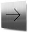 Piktogramm Pfeil nach rechts konturgeschnitten in Edelstahl