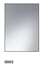 0063 Plain Bevel Mirror - 600x450mm, 800x600mm, 1000x750mm, 1200x800mm, 1200x1000mm