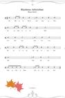 Bunter Herbst Rhythmus Arbeitsblatt PDF