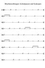 Rhythmusübungen Synkopen und Achtelpausen