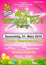 Löwen Oberdiessbach, Weisch no? Party 42, Bar, Oster Samstag 31. März 2018, Disco, Fest, Event, DJ Aspen, Röfe, Lädi, René, Domi D, Mischu, Bern, Thun, Emmental, Schweiz, Verein, Event, Veranstaltung, Ausgang, Nachtleben