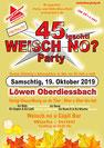 Fest, Party, Disco, Bar, Löwen Oberdiessbach, 19. Oktober 2019, Oldies, Schlager, Emmental, Thun, Bern, Schweiz