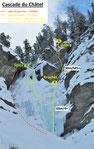 Guide de haute montagne maurienne aussois cascade de glace alpinisme topo cascade du châtel Matthieu BRIGNON