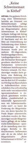 Stormarner Tageblatt 29.09.10
