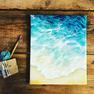 Mit der Lasurtechnik ein Meer Bild malen.