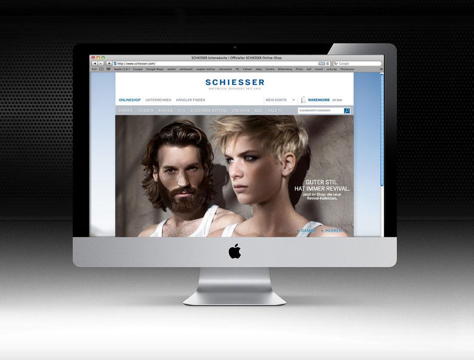 SCHIESSER Revival, Online Shop