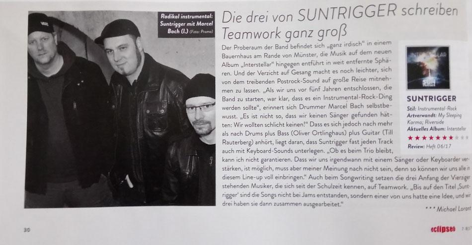 Bandbericht im Eclipsed Magazin