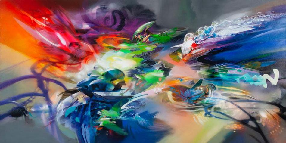 Obra terminada / Acrílico sobre lienzo / 3.10 x 1.60 mts