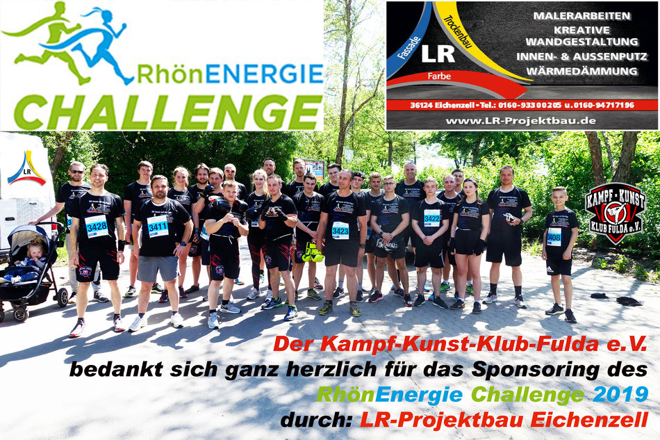 Der Verein: Kampf-Kunst-Klub-Fulda.e.V. bedankt sich ganz herzlich für das Sponsoring der Firma LR-Projektbau in Eichenzell