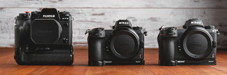 Hochzeits-Kameras: Fujifilm X-T3, Nikon Z6 und Nikon Z6ii