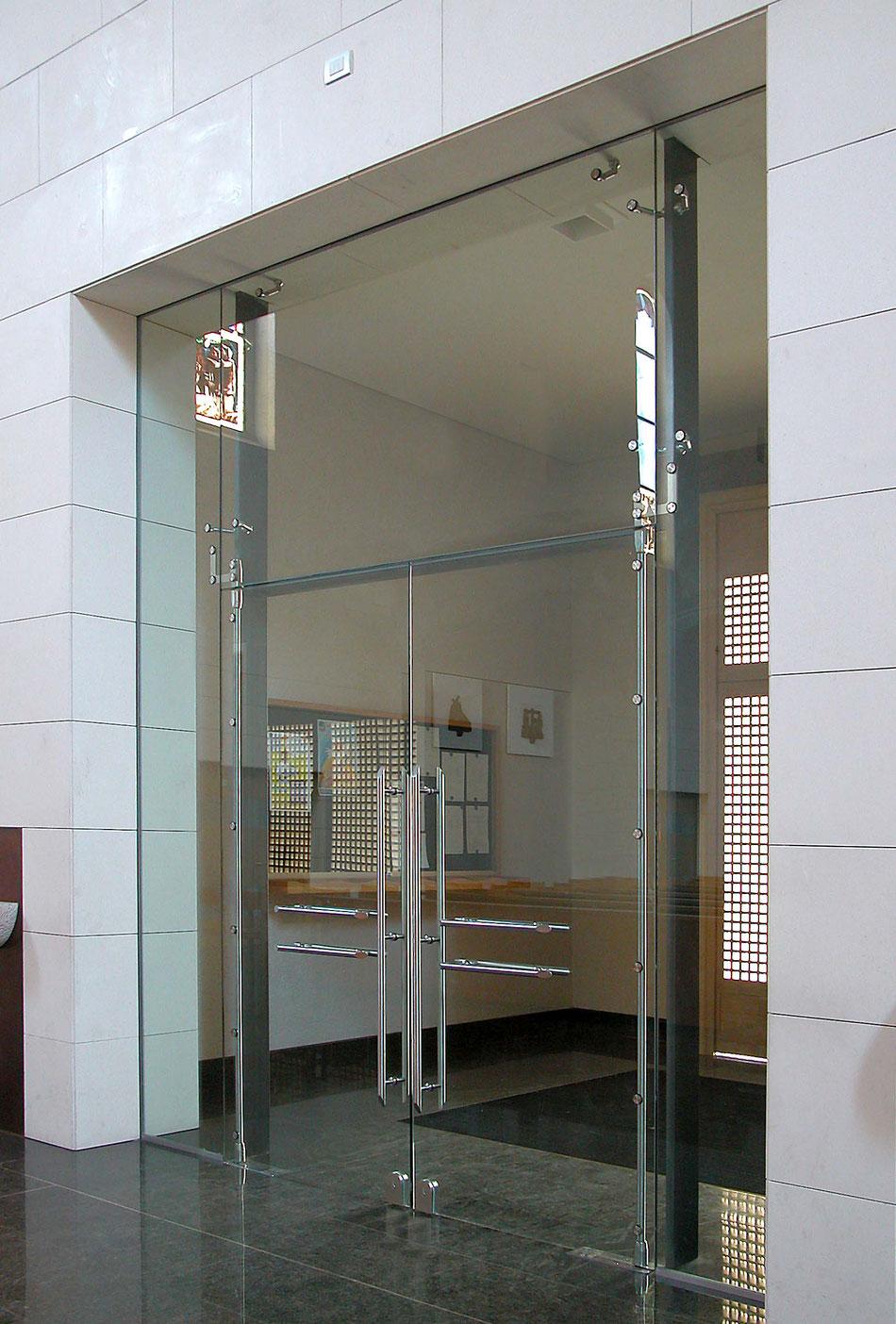 Glasschiebetürbeschlag für Edelstahlanwendungen
