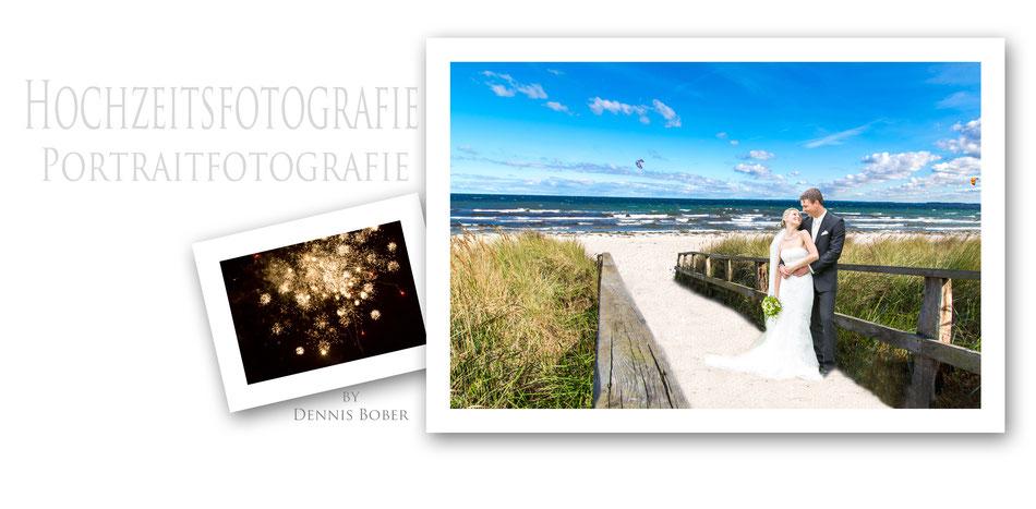 Hochzeitsfotografie und Hochzeitsfotos in Scharbeutz, direkt am Strand, Hochzeitsfotograf Dennis Bober DeBo-Fotografie.