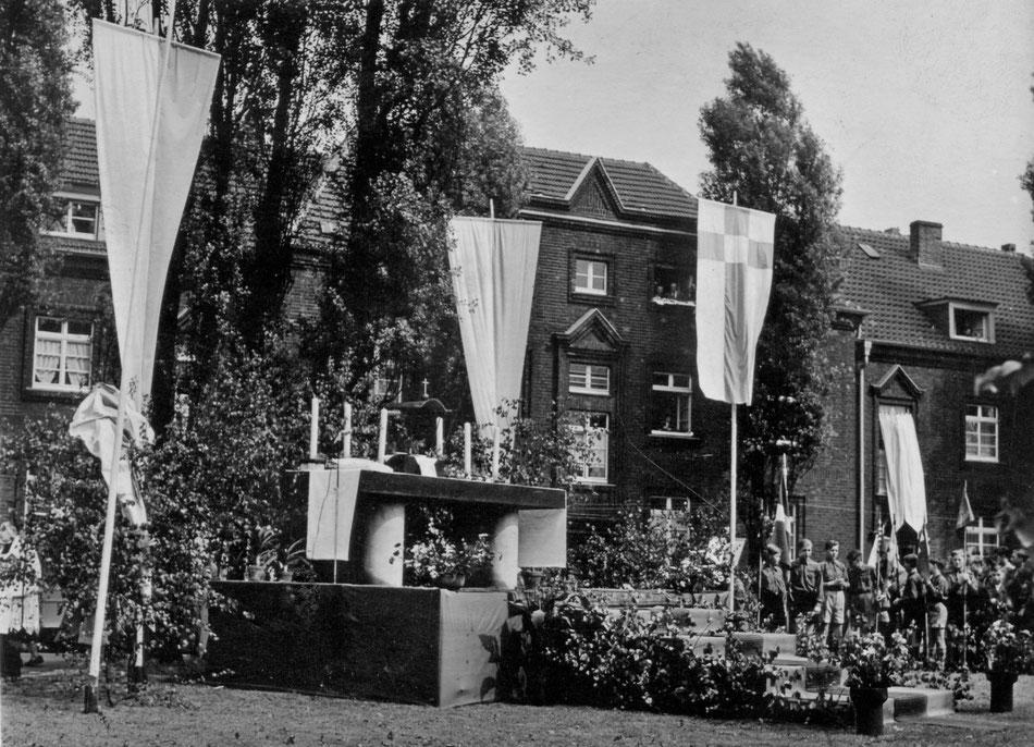 Fronleichnamsaltar im Stillen Winkel - Foto zur Verfügung gestellt von Norbert Schild