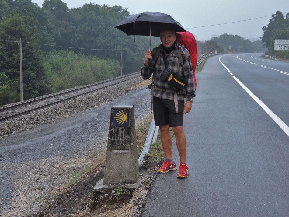 Noch nur 100 km bis Santiago.