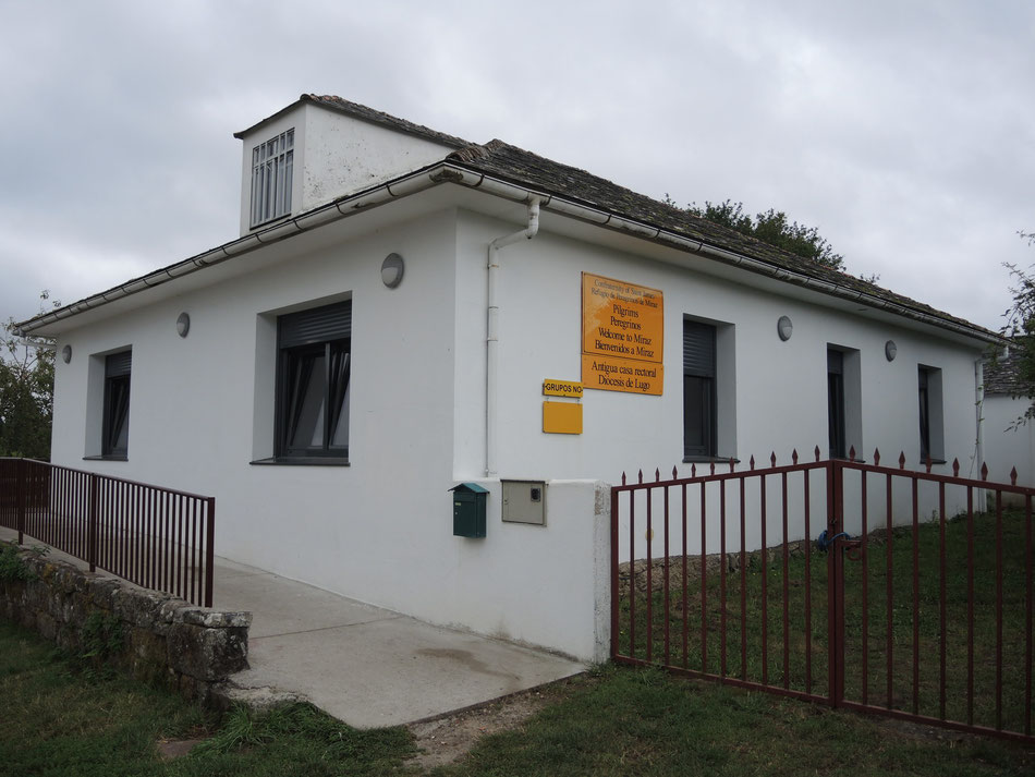 Schöne Albergue in Miraz wird betreut von Confraternity of Saint James (GB).
