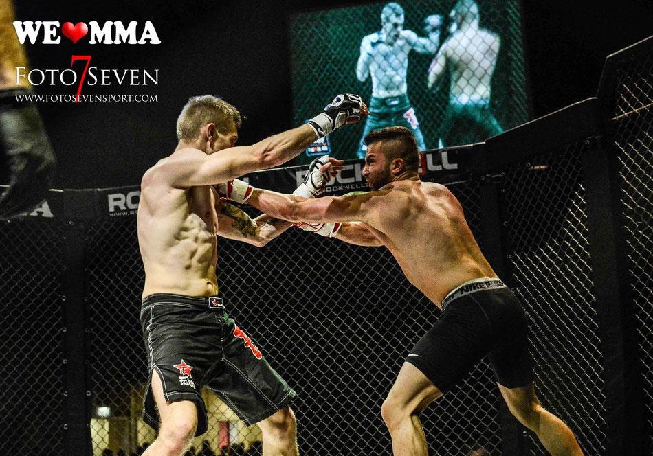 Safak Aktop (UBC Kampfsportunion) vs. Kevin Sender (Hardcore Bremen)