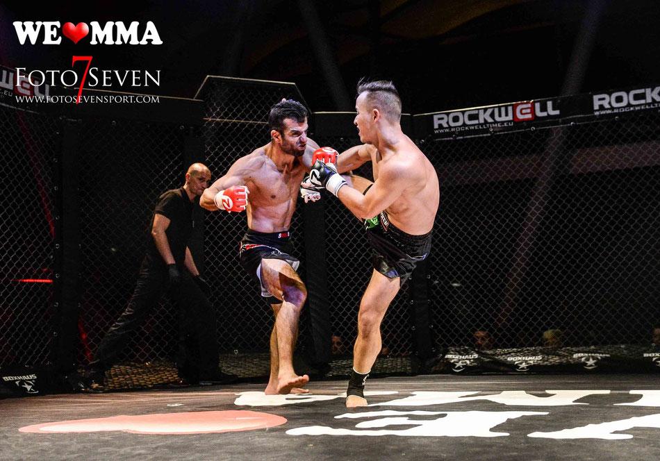 Sportfotografie - We Love MMA Stuttgart - Sebastian Leroy (King´s Fight Team) vs. Ismail Akkilic (Kampfsportschule Allerborn)