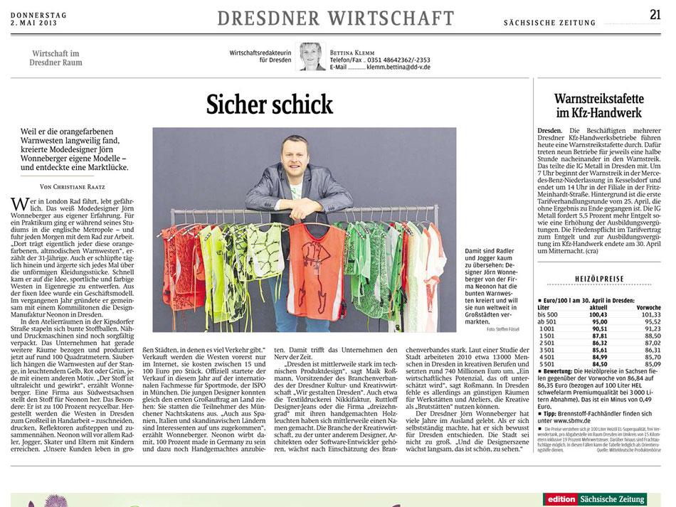 Sächsische Zeitung 2.Mai 2013