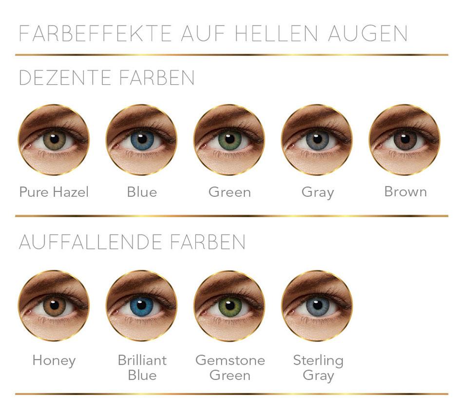 Farbeffekte helle Augen