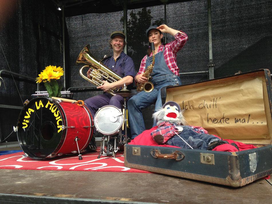 Duo-Viva-La-Musica, Walkact & Kinderprogramm, Felix Holzenkamp, Regina Barthel