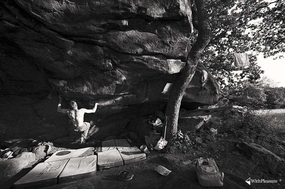 Bouldern in Kjugekull.