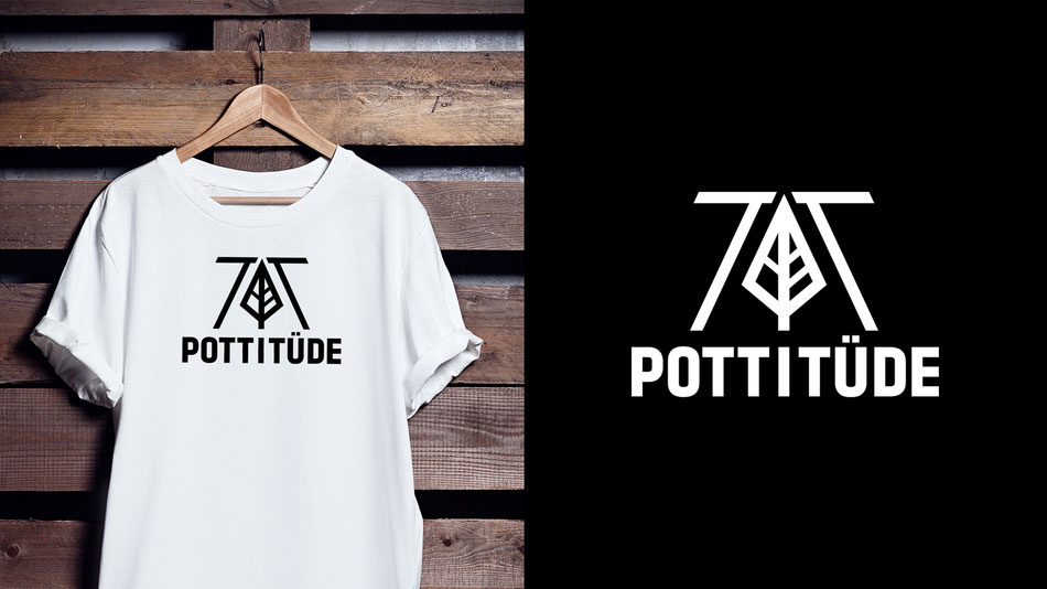 Pottituede Corporate Design Graphic Logo Artwork