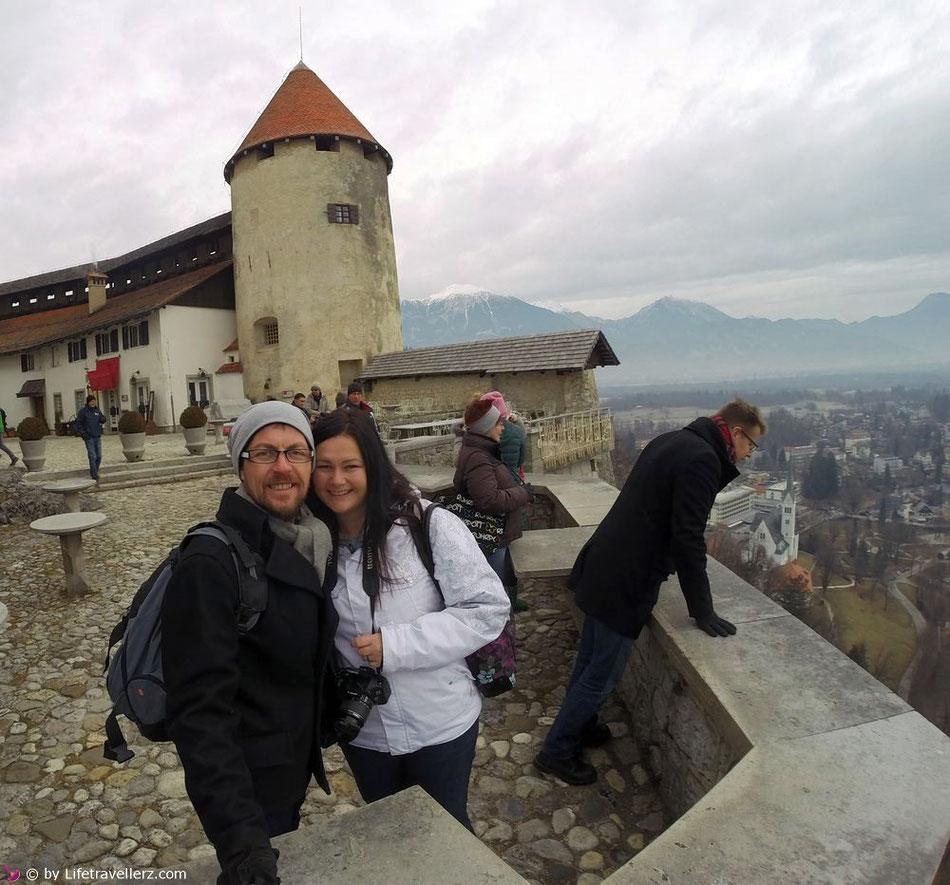 Auf der Burg von Bled in Slowenien