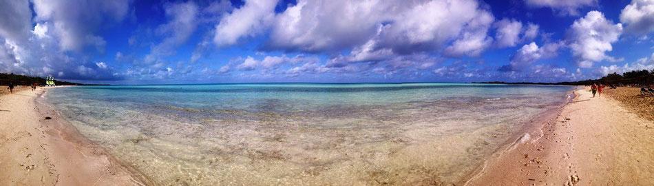 Panorama am Strand von Cayo Coco auf Kuba