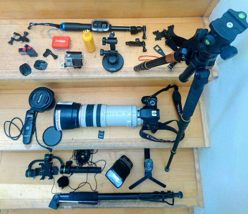 Lifetravellerz Reiseblogger Equipment-Kamera-GoPro-Gimbal-Objektiv