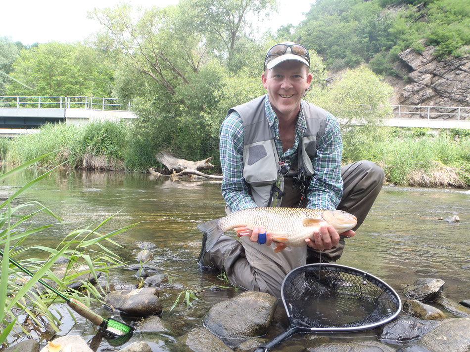 A new love of Andrew's is fishing for big chub in Austria.