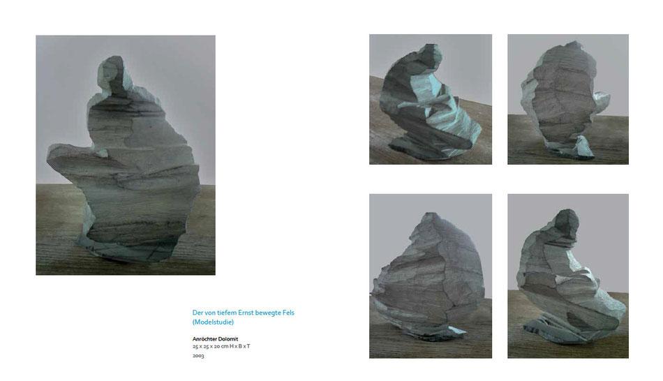 Der von tiefem Ernst bewegte Fels (Modelstudie)