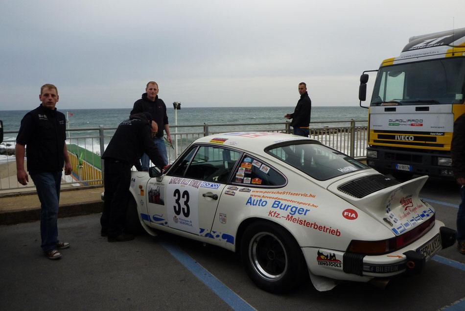Rallye San Remo 2014 mit der Service-Crew