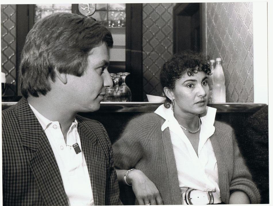 Pressekonferenz Rallye Vorderpfalz 1986, mit Michéle Mouton