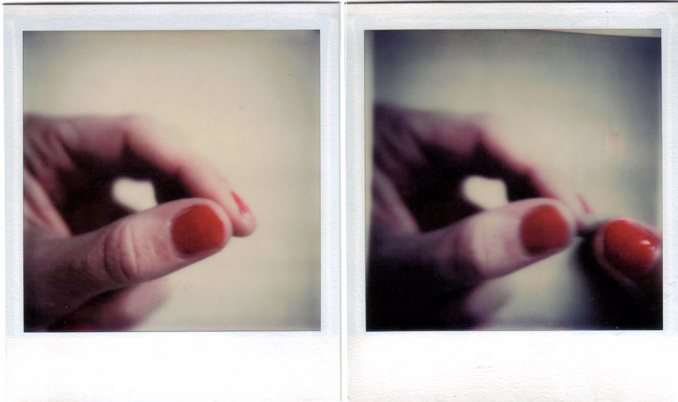 gentle touch, polaroid dip, 1975
