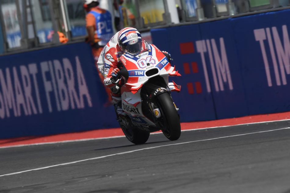 Andrea Dovizioso beim MotoGP Rennen 2016 in Misano für Ducati