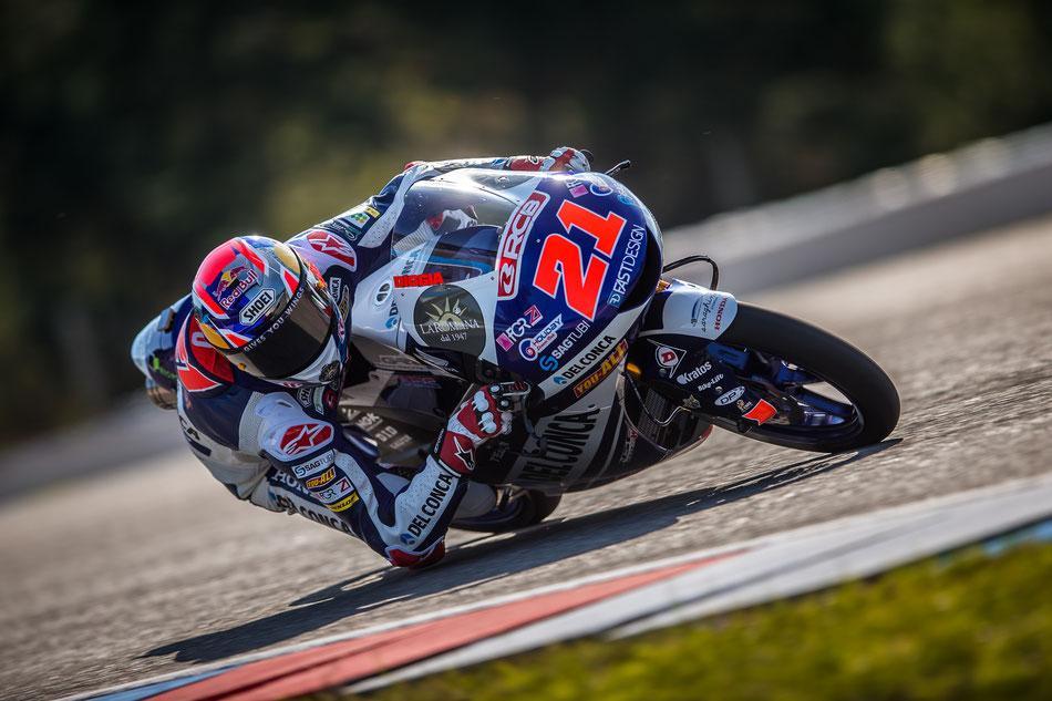 Fabio Di Giannantonio 2018 in der Moto3 für Gresini Racing am Sachsenring